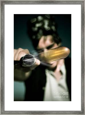 Flying Bullet Framed Print