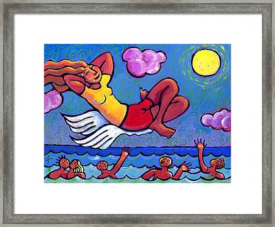 Flying By The Seat Of My Pants Framed Print by Angela Treat Lyon