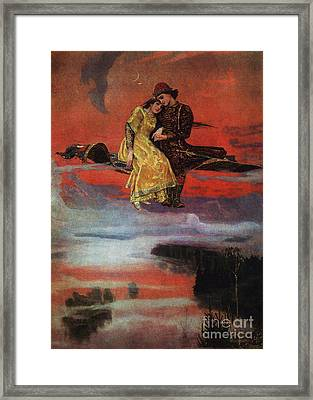 Flying Carpet Framed Print by Victor Mikhailovich Vasnetsov