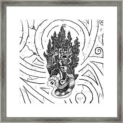 Flying Castle Framed Print