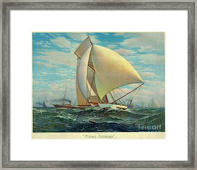 Framed Print featuring the photograph Flying Defender 1895 by Padre Art