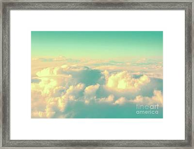 Flying Framed Print by Delphimages Photo Creations