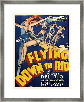 Flying Down To Rio  Framed Print by Mountain Dreams
