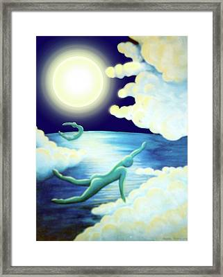 Flying Dream 2 Framed Print by Barbara Stirrup