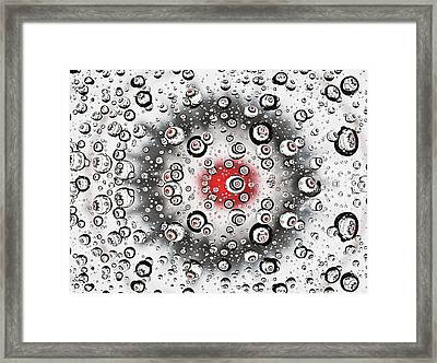 Framed Print featuring the photograph Flying Drops by Vladimir Kholostykh