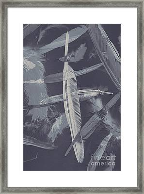 Flying Featherabstract Background Framed Print by Jorgo Photography - Wall Art Gallery