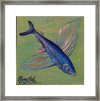 Flying Fish Framed Print by Emily Reynolds Thompson
