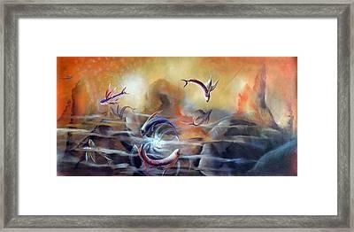 Flying Fishes Framed Print by Arun Sivaprasad