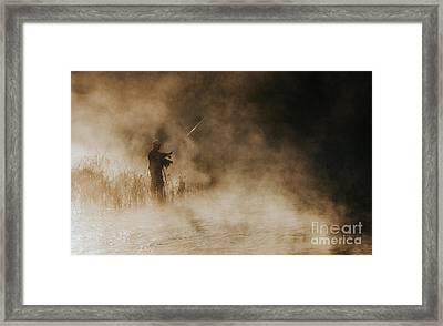 Framed Print featuring the photograph Flying Fishing by Iris Greenwell