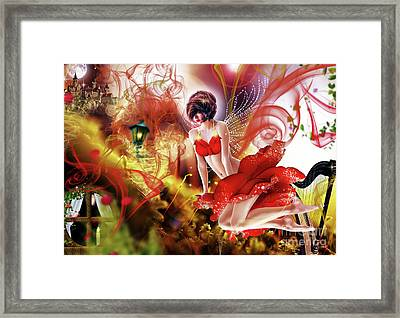 Flying Flower.. Eve Framed Print