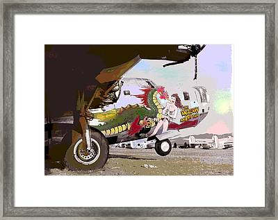 flying Fortress Framed Print by Charles Shoup