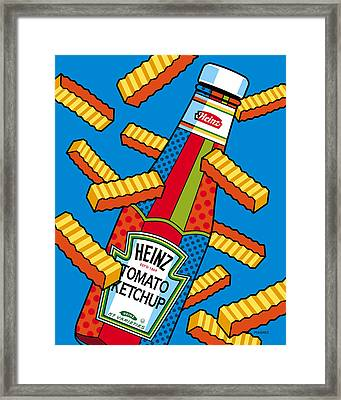 Flying Fries Framed Print