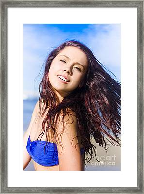 Flying Hair Framed Print by Jorgo Photography - Wall Art Gallery