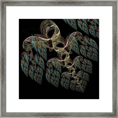 Flying Hearts Framed Print