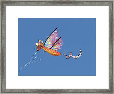 Framed Print featuring the photograph Flying High by Maciek Froncisz