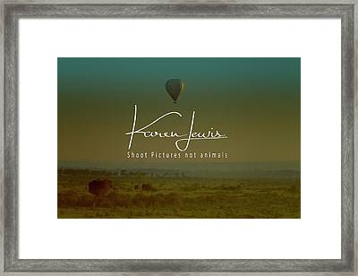 Framed Print featuring the photograph Flying High On The Masai Mara by Karen Lewis