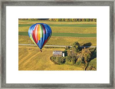 Flying Hight Over New York State Framed Print
