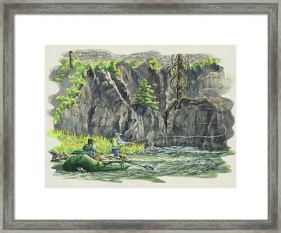Flying Hoppers On The Middle Fork Framed Print by Link Jackson