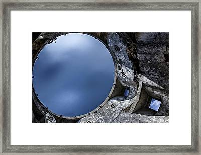 Framed Print featuring the photograph Flying In A Spaceship Concrete by Edgar Laureano