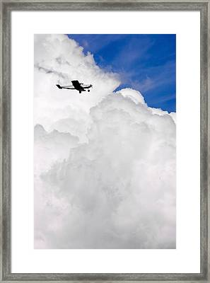 Flying In The Storm Framed Print by Steve Shockley