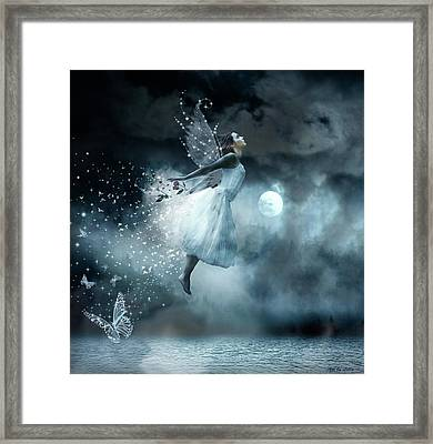 Flying In Your Dreams Framed Print by Lilia D