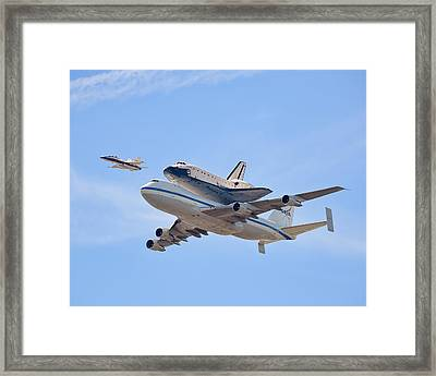 Flying Into History Framed Print by Andrew J. Lee
