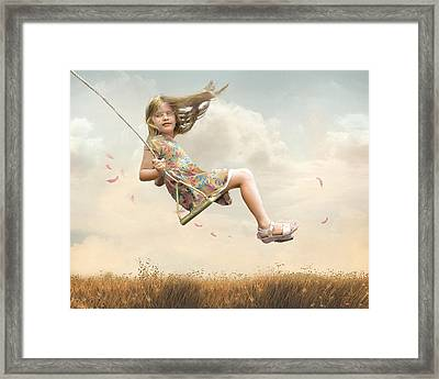 Flying Framed Print by Joel Payne