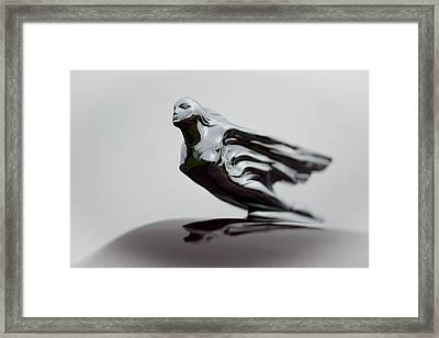 Flying Lady Hood Ornament Framed Print