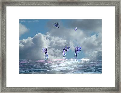Flying Lessons Framed Print by Claude McCoy