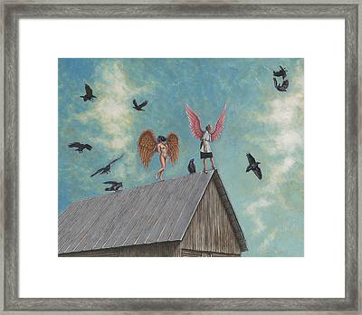 Flying Lessons Framed Print by Holly Wood