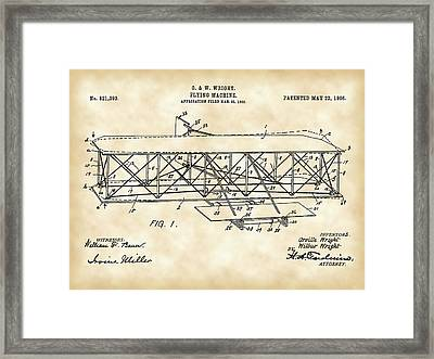 Flying Machine Patent 1903 - Vintage Framed Print