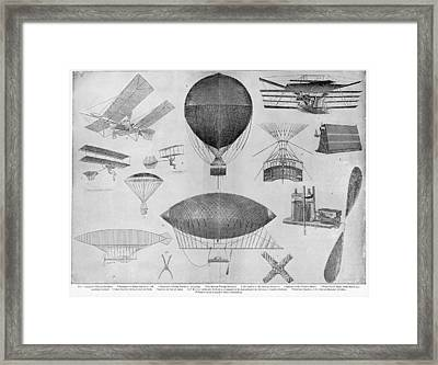 Flying Machines Framed Print by Granger