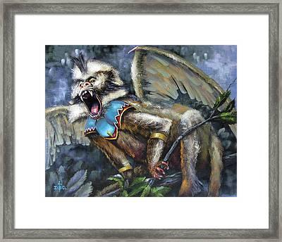 Flying Monkey Framed Print