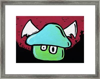 Flying Mushroom Framed Print by Jera Sky