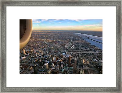 Flying Over Cincinnati Framed Print by Joann Vitali