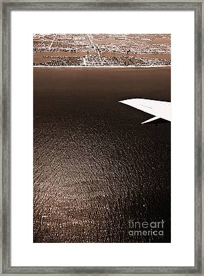 Flying Over The Coast 6 Framed Print by Micah May