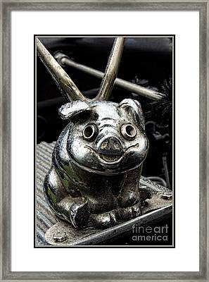 Flying Pig Hood Ornament Framed Print by Anna Sheradon