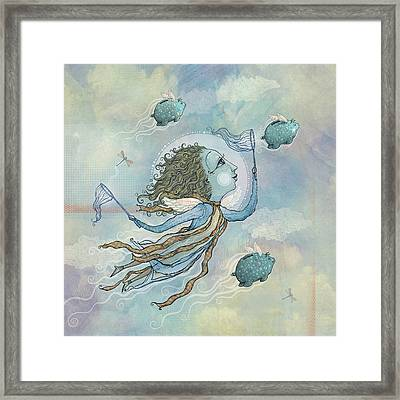 Flying Piggies Framed Print