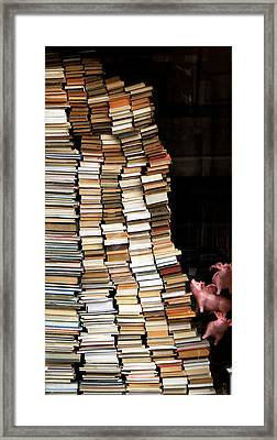 Flying Pigs And Books Framed Print