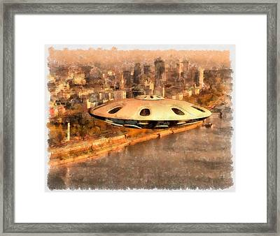 Flying Saucer Framed Print by Esoterica Art Agency