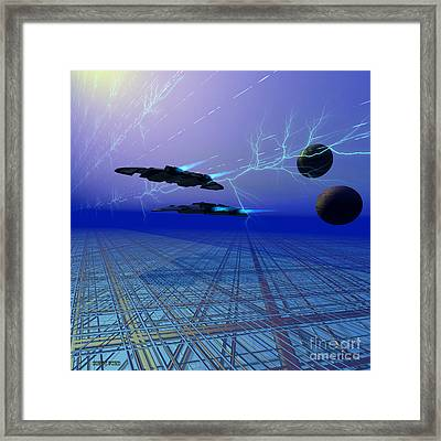 Flying Saucers Framed Print by Corey Ford