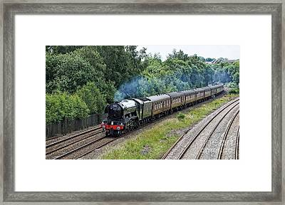 Flying Scotsman Approaching Chesterfield Framed Print by David Birchall