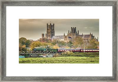 Flying Scotsman At Ely Framed Print
