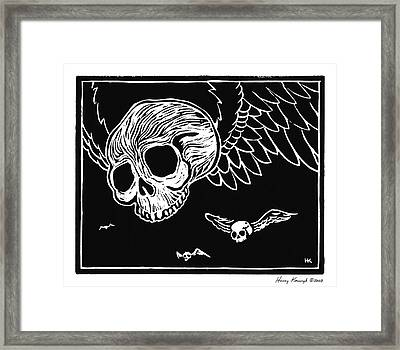 Flying Skulls Framed Print