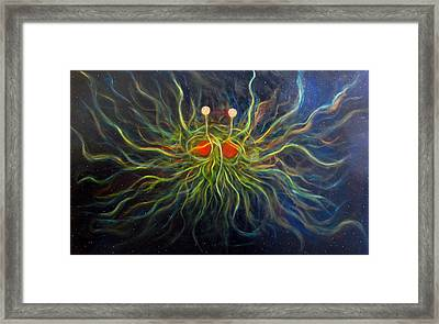 Flying Spaghetti Monster Framed Print by Alizey Khan