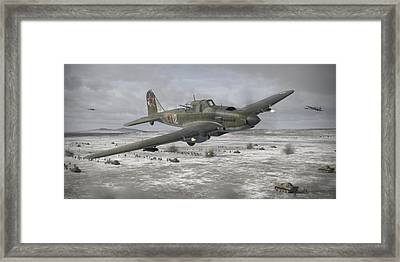 Flying Tank Framed Print