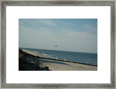 Flying The Beach Framed Print by See Me Beautiful Photography