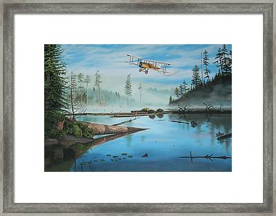 Flying The Mail Framed Print by Kenneth Young