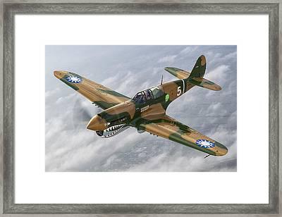Flying Tiger Framed Print