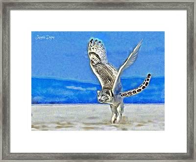 Flying Tiger Framed Print by Leonardo Digenio